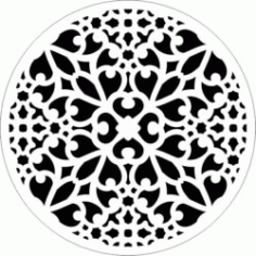 Decorative Motifs Circle k02 Download For Laser Cut Free DXF File