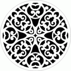 Decorative Motifs Circle k303 Download For Laser Cut Free DXF File