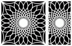 Decorative Motifs Sunflower Download For Laser Engraving Machines Free DXF File