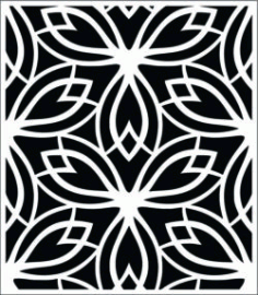 Decorative Pattern In Rectangle Download For Laser Cut Free DXF File