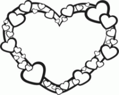 Heart Wreath Download For Laser Cut Free DXF File