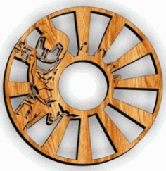 Iron Man Wall Clock Download For Laser Cut Free DXF File