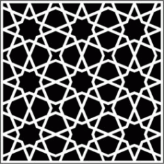 Islamic Decorative Squares Download For Laser Cut Free DXF File