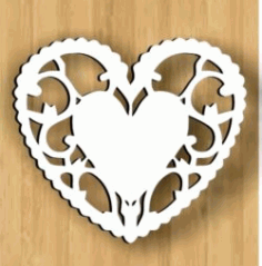 Loving Heart Download For Laser Cut Free DXF File