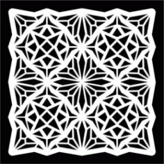 Square Pattern Download For Laser Cut Free DXF File