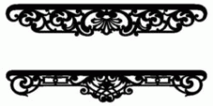 Border Design Download For Laser Cut Cnc Free CDR Vectors Art