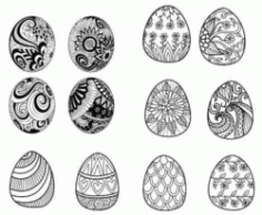 Decorate Easter Eggs Download For Laser Engraving Machines Free CDR Vectors Art