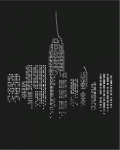 City At Night For Print Or Laser Engraving Machines Free DXF File