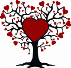 Family Tree Of Love For Laser Cut Free DXF File