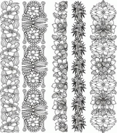 Floral Border For Print Or Laser Engraving Machines Free DXF File
