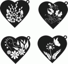 Pendant Heart For Laser Engraving Machines Free DXF File