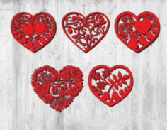 Valentine Heart For Laser Cut Free DXF File