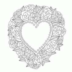 Wreath Of Hearts Download For Laser Engraving Machines Free CDR Vectors Art