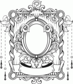 Art Deco Frame For Laser Engraving Machines Free CDR Vectors Art