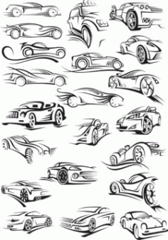 Car For Laser Engraving Machines Free CDR Vectors Art