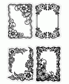 Floral Frame For Print Or Laser Engraving Machines Free CDR Vectors Art