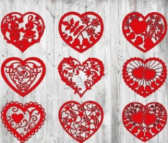 Heart Cover For Laser Cut Free CDR Vectors Art
