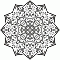 Luxury Mandala Design For Print Or Laser Engraving Machines Free CDR Vectors Art