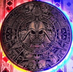 Star Wars Mural For Laser Engraving Machines Free CDR Vectors Art