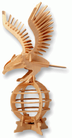 3D Puzzle Eagle Free DXF File