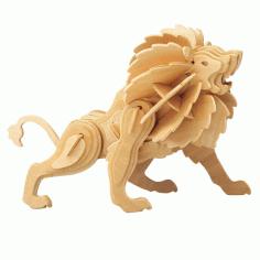 3d Puzzle Lion Free DXF File