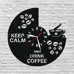 Coffee Clock Free DXF File
