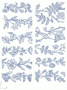 Floral Free DXF File