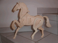 Horse 3d Puzzle Free DXF File