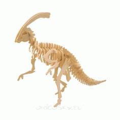 Parasaurolophus 3d Puzzle Free DXF File