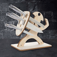 Spartan Knife Block Free DXF File