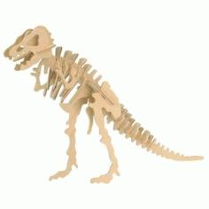 t. Rex 3d Puzzle Free DXF File