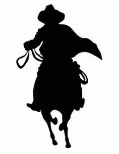 Cowboy Silhouette Front View Free DXF File