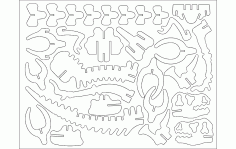 Dinota 3d Puzzle Free DXF File