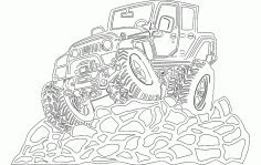 4 Door Jeep Free DXF File