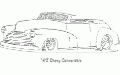18 Chevy Convertible Free DXF File