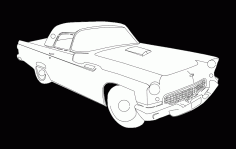 55 T Bird K Free DXF File