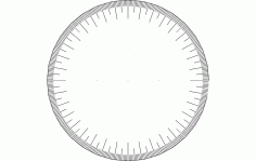360 Wheel Free DXF File