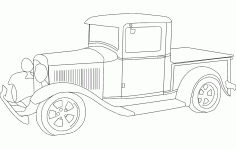 1932 Ford Pickup Free DXF File