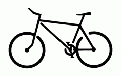 Bicycle 1 Free DXF File