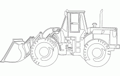Caterpillar Bulldozer Free DXF File