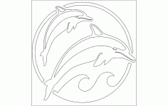 Dolphins Free DXF File