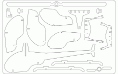 Helicopter Free DXF File