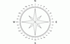 North Arrow Compass Free DXF File