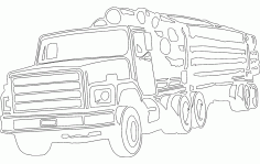 Wood Transportation Truck Free DXF File