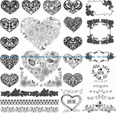 Cardiac Flower For Print Or Laser Engraving Machines Free DXF File