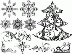 The Motifs For Print Or Laser Engraving Machines Free DXF File
