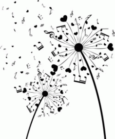 Dandelion Music For Print Or Laser Engraving Machines Free DXF File