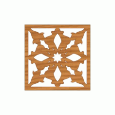 Laser Cut Pattern Design Cnc 141  Free DXF File