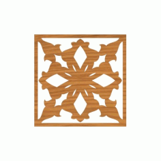 Laser Cut Pattern Design Cnc 74  Free DXF File