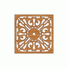 Laser Cut Pattern Design Cnc 296 Free DXF File